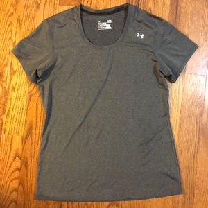 "Under Armour ""fitted"" size large gray top"